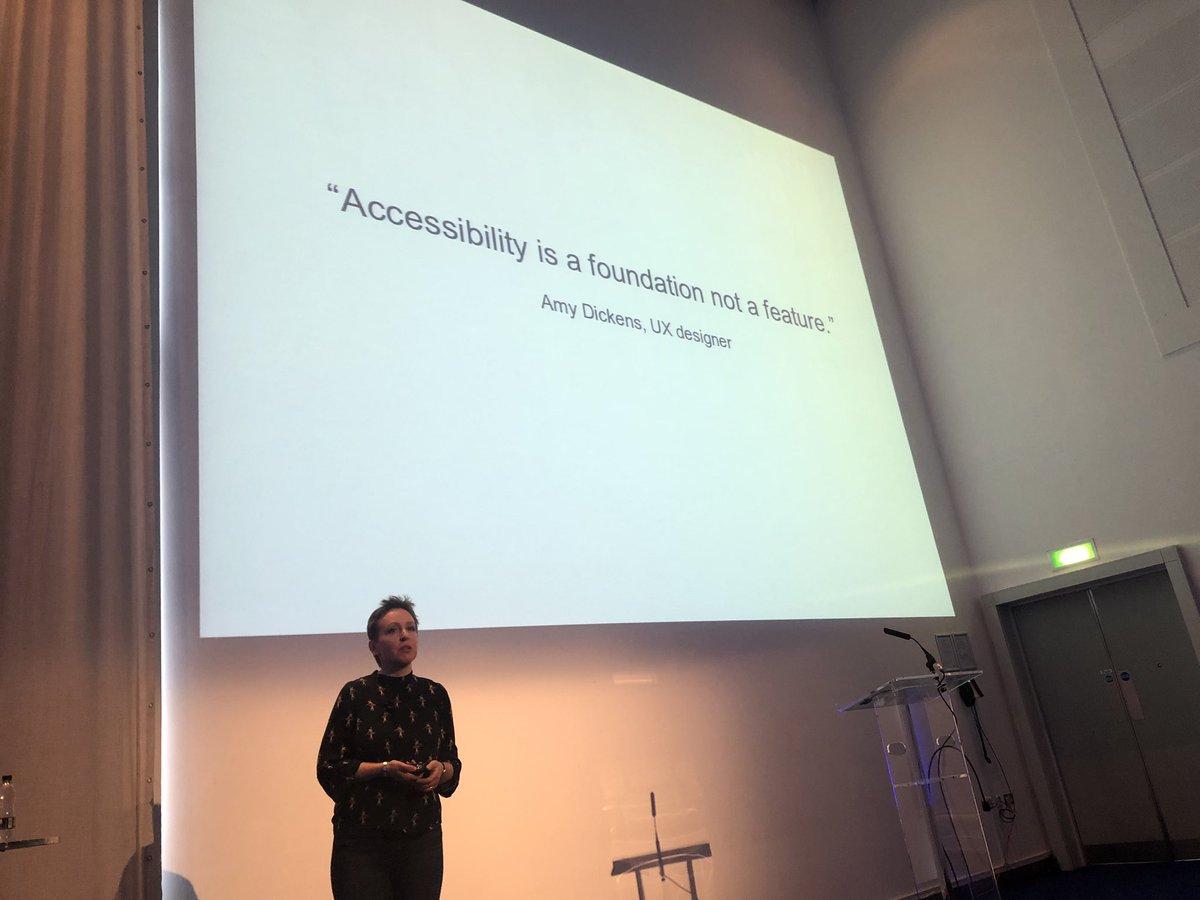 Rachel Morgan-Trimmer doing public speaking